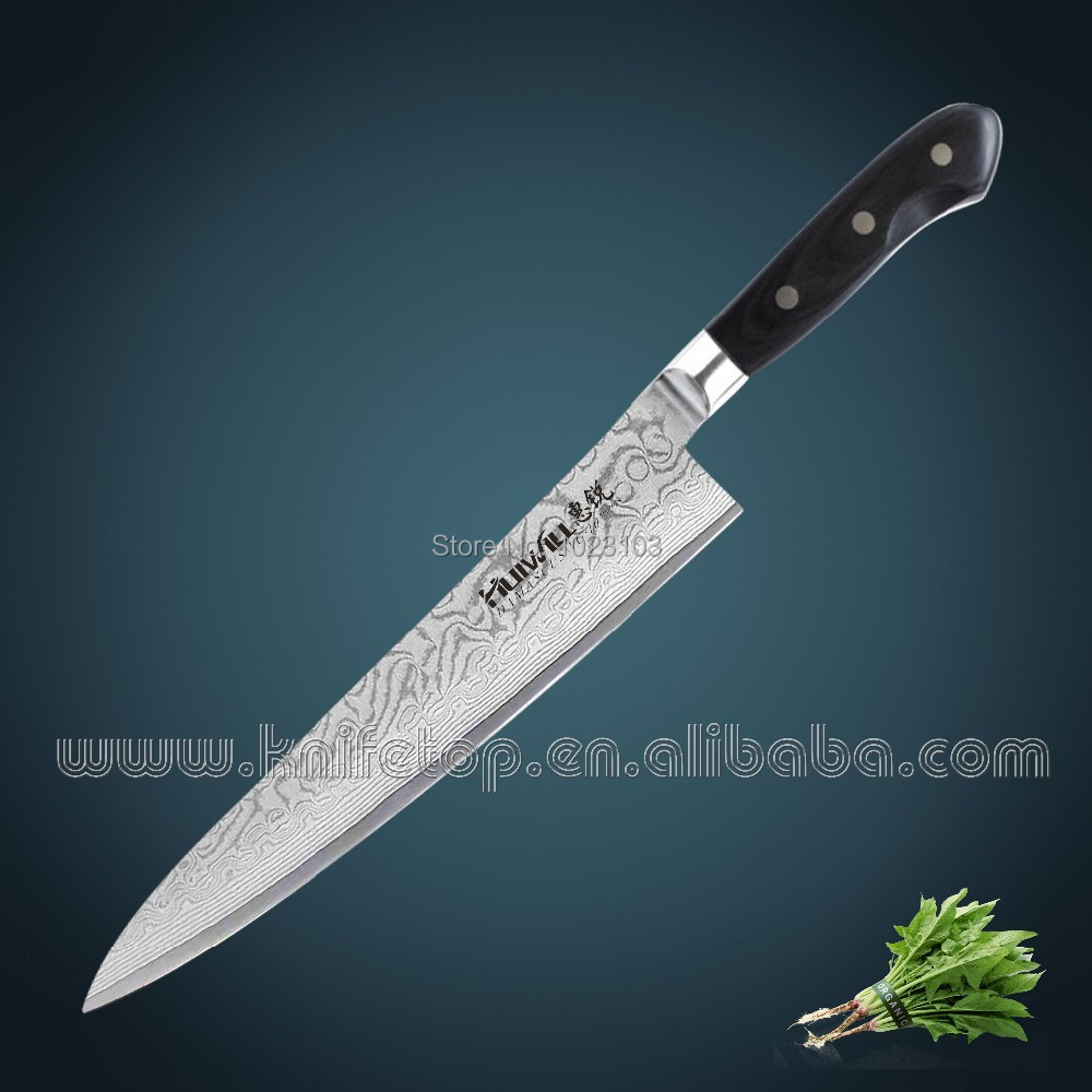⑤Huiwill 9 Japanese Takeful 67 layers VG10 Damascus stainless stel ...