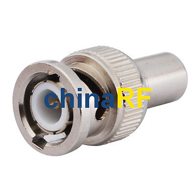 3 pcs 50 Ohm BNC male Resistor RF Coaxial Terminator lson steel bnc video rf coaxial connection adapters silver 5 pcs
