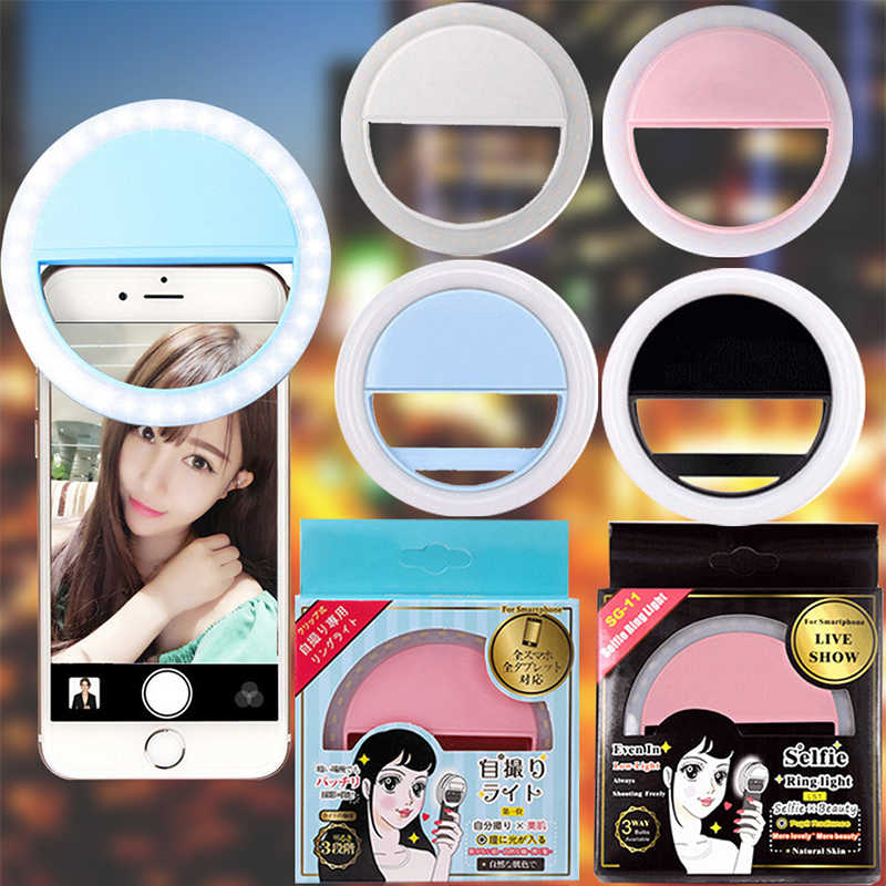 Z90 New USB Charge Selfie Portable Flash Led Camera Phone Photography Ring Light Enhancing Photography for iPhone Smartphone