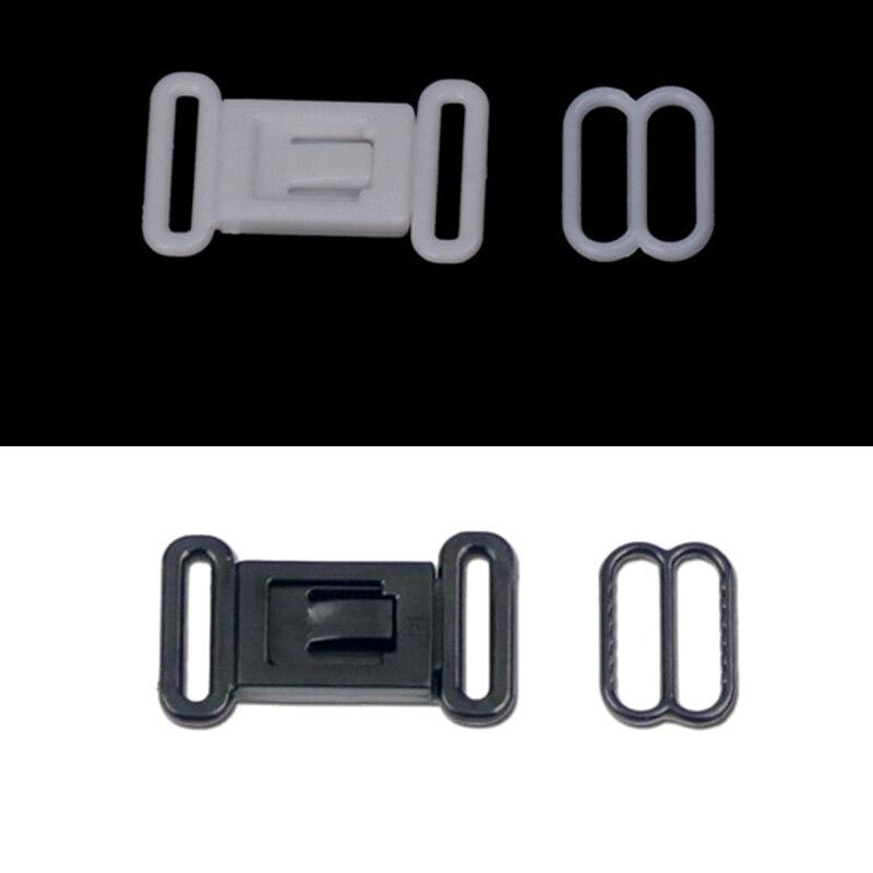 20 компл. 12,5 мм Пластик регулируемая лента аксессуары пряжки застежками и Крючки набор глаз зажим для галстука-бабочки застежкой бюстгальтера купальники