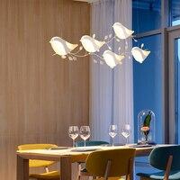 Современные светодиодные подвесные светильники, освещение, лампа для гостиной, столовой, кухни, AC85V 260V, креативные светильники для дома, бле