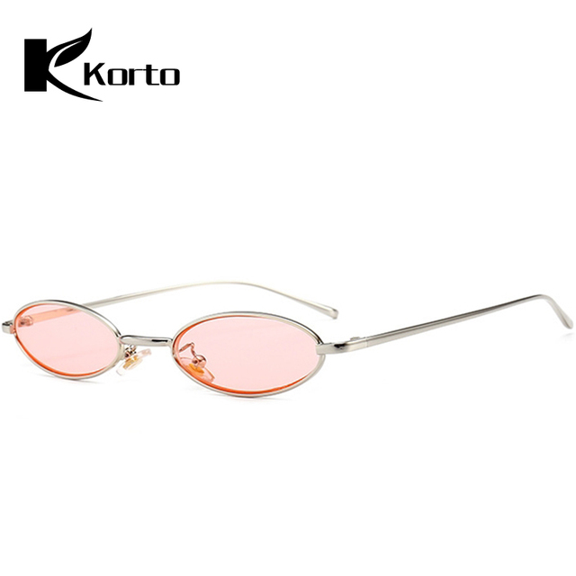 ae750bdf57411 Aliexpress.com   Buy 90s Oval Sunglasses Zonnebril Dames Small Round For Women  2018 Rihanna Tinted Pink Men Glasses Ladies Vintage Narrow Eyeglasses from  ...