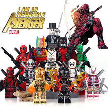 Individually Sale  DC Super Hero Rainbow Batman Greed Deadpool Building Blocks Children Christmas Gift Toys