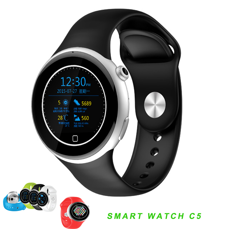 2016 Heart Rate Tracker font b Smartwatch b font C5 Waterproof Sport Watch Pedometer Smart Watch