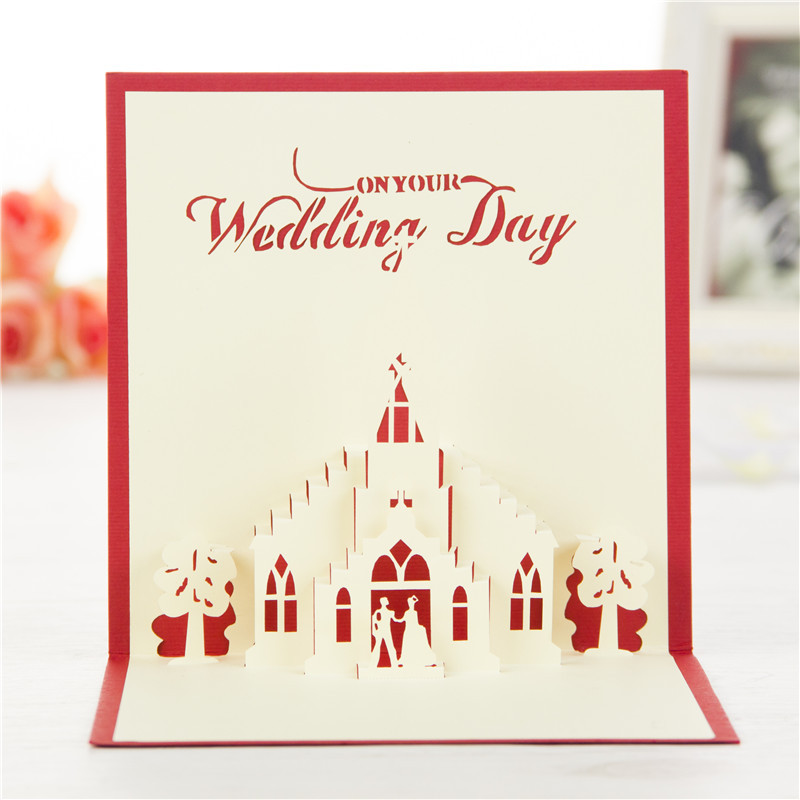 Weeding with lover 3d pop up greeting cards valentines day handmade weeding with lover 3d pop up greeting cards valentines day handmade laser cutting card in cards invitations from home garden on aliexpress m4hsunfo