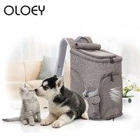 Pet Dog Strollers Backpack Outdoor Comfort Travel Breathable Windproof Portable Handbag for Small Animal Dog Cat Carrier Bag