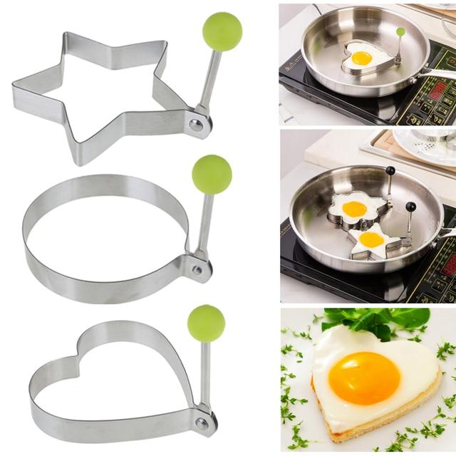 Spiegelei Braten 1 stück edelstahl omelett spiegelei braten form liebe runde
