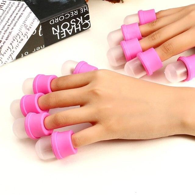 10pcs/lot Wearable Nail Soakers Polish Remover DIY Acrylic UV Gel ...