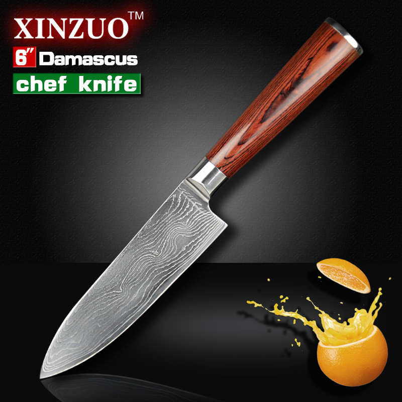 NEW 6 inch chef font b knife b font 73 layers High quality Japanese VG10 Damascus