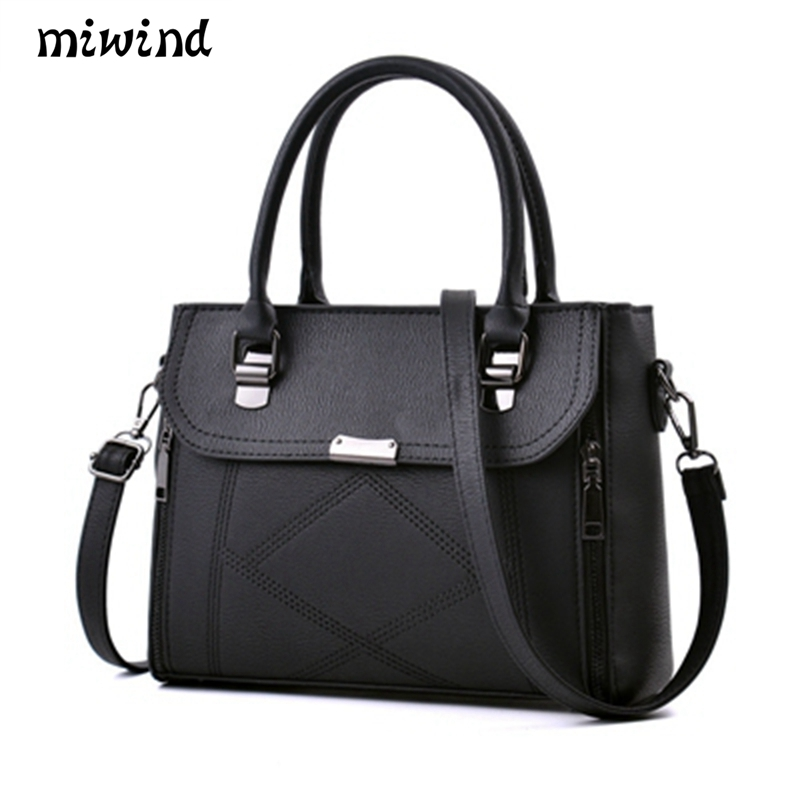 MIWIND Designer Handbags High Quality Women Bag Fashion Brand Ladies hand bag Big Pu Leather Lady Shoulder Bag Female Tote stainless steel car racing grills for mazda 6 mazda6 atenza 2014 2016 front grill grille cover trim car styling