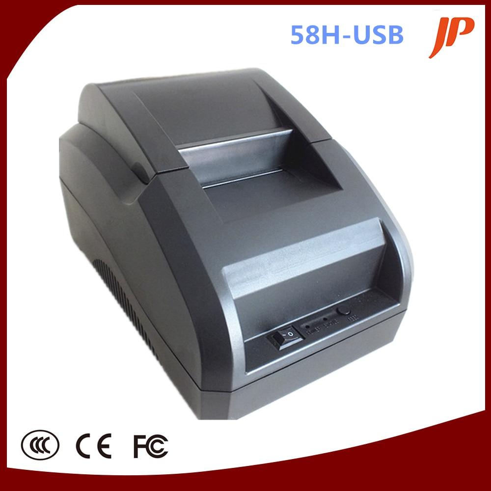 ФОТО black USB Port 58mm thermal Receipt pirnter POS printer low noise.printer thermal USB printer