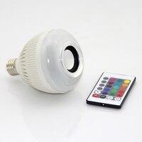 Inteligentny Żarówka RGBW Bezprzewodowe Bluetooth Głośnik Music Playing Ściemniania 12 W E27 Żarówka LED Lampy Światła z 24 Pilotów kontrola