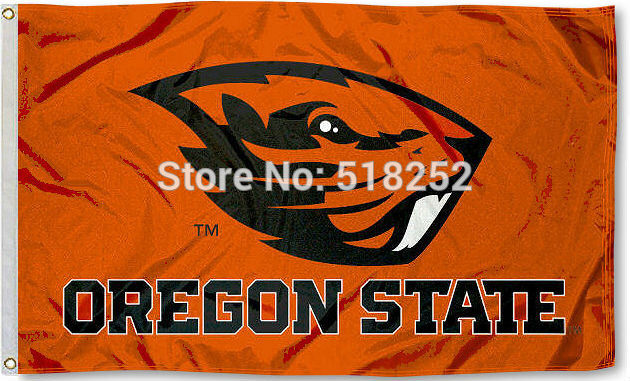 OSU Oregon State Beavers Flag 3x5 FT 150X90CM Banner 100D Polyester flag brass grommets 067, free shipping