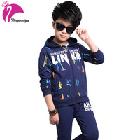 Sports Suit For A Boy Letter Printing Jacket For Childrens Boys Fashion Cotton Children Tracksuits Hoodies