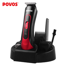 POVOS Electric Hair Clipper Professional Stainless Steel Blades Hair Cutting Machine Tool for Men or Baby  Hair Trimmer PR3050