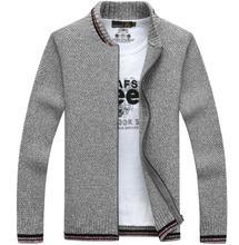 New Arrives Autumn Winter Men's Cardigans Sweaters Mandarin Collar Casual Clothes For Men Zipper Sweater Knitwear Sweater