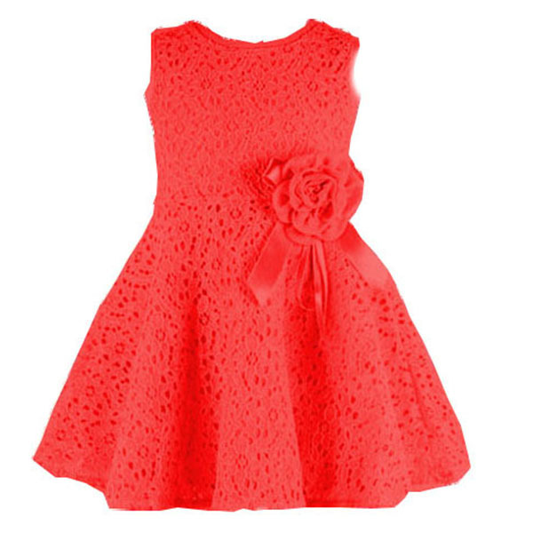 Fashion Kids Girls Toddler Baby Lace Princess Dress Party Dresses Clothes 2-7Y