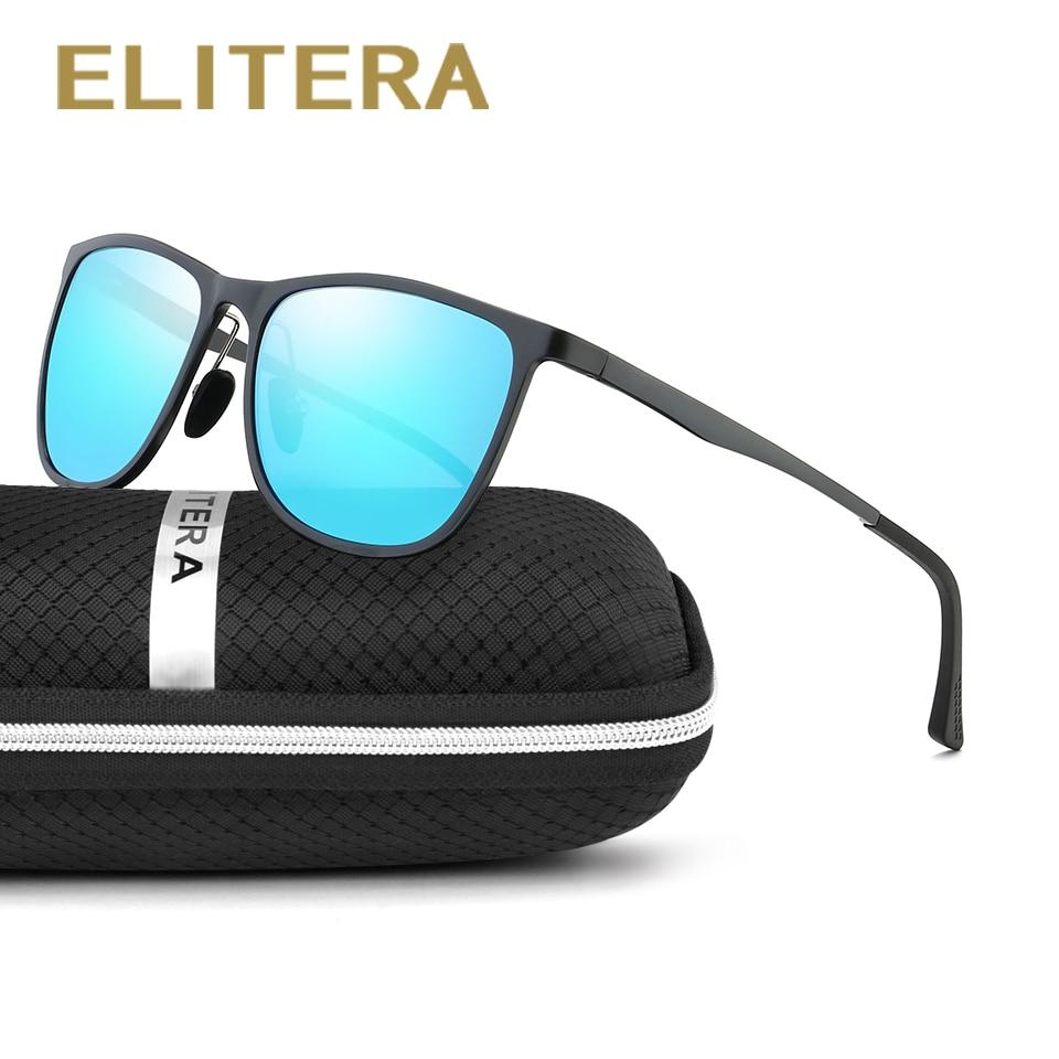 Syze dielli të magnezit ELITERA Alumini Polarizim Sportivë Burra Veshje Pasqyrë Driving Syzet e diellit dielli oculos Aksesorë meshkujsh për syze