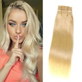 5A Grade Blonde Brazilian Hair Straight 1 Bundle 27 Blonde Virgin Human Hair Weave Cheap Blonde Brazilian Hair Weave Bundles