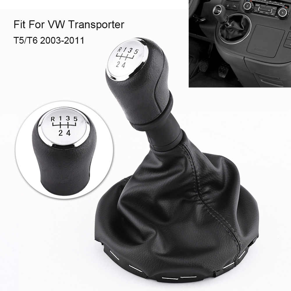 5 Speed Auto Pookknop Gearstick Gaiter Boot Kit Voor VW Transporter T5/T6 2003 2004 2005 2006 2007 2008 2009 2010 2011