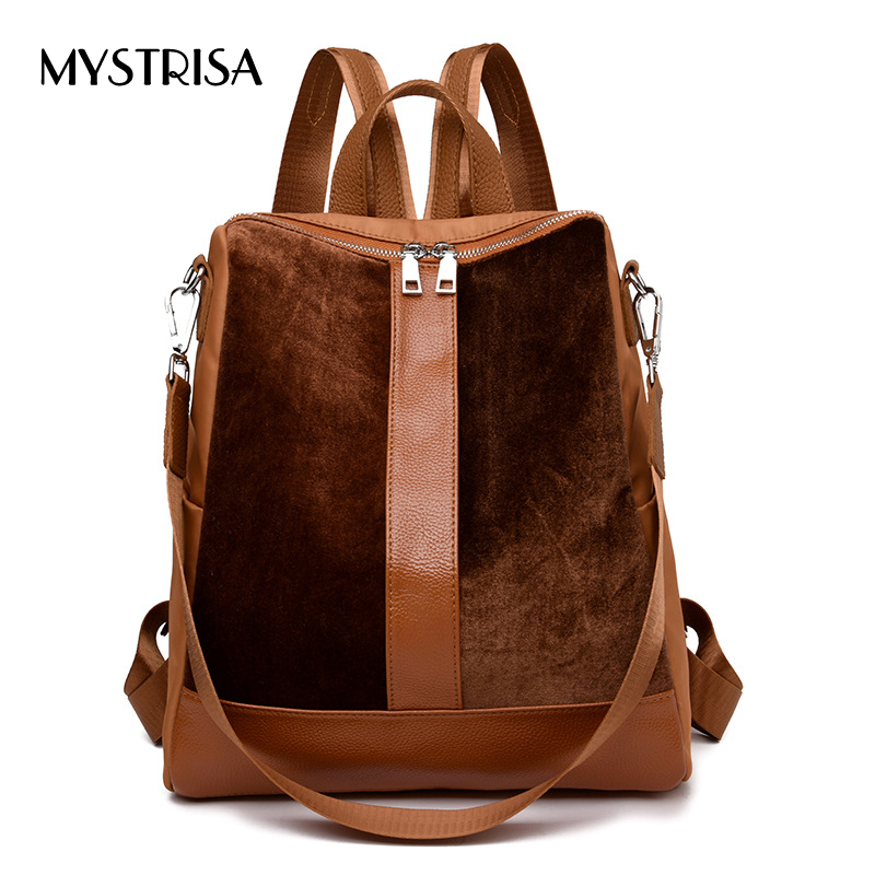 M0234 Fashion Feminina Mujer Mochila Women Mini Female Suede Backpack girls School bag Girls Teenagers Small backBag track bags цена 2017