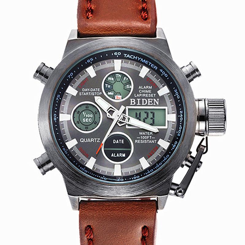Prix pour Reloj Hombre 2016 Montres hommes marque de luxe Sport plongée 50 m LED Militaire montres Véritable quartz mens montre Horloge montre homme 3003