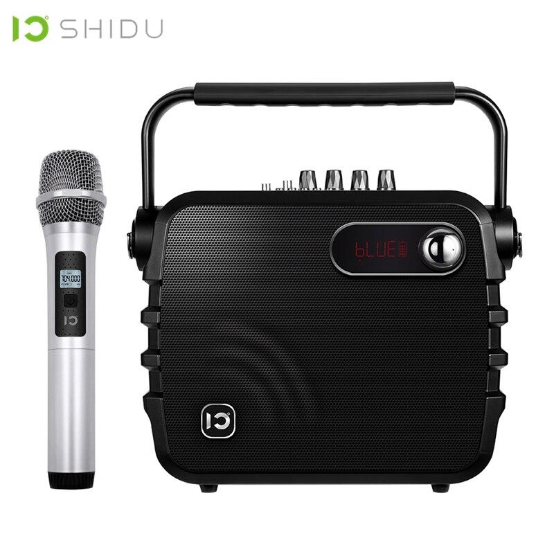 SHIDU K3 30W Amplificador de Voz Portátil Bluetooth 4.0 ICloud Controle Karaoke Falante De Áudio Com Microfone Sem Fio UHF Para O Discurso