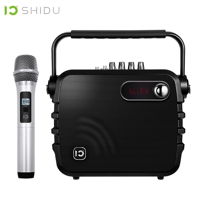 SHIDU K3 30W amplificateur de voix Portable Bluetooth 4.0 ICloud contrôle karaoké haut-parleur avec UHF Microphone sans fil pour la parole