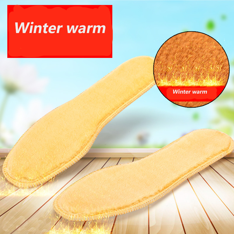 1pairs Of Fur Soles Thicken Fleece For Women Men Warm And Winter Padshoes Size35-45neut Shoes Insoles 2017 mens winter stretch thicken jeans warm fleece high quality denim biker jean pants brand thick trousers for man size 28 40