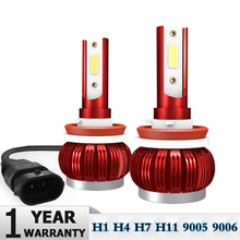 2Pcs Super Bright Car Headlight Bulb H7 LED H1 H4 H11 9005/HB3 9006/HB4 Auto Headlamps Kit 6000K 36W 9000LM Automobiles Lamp