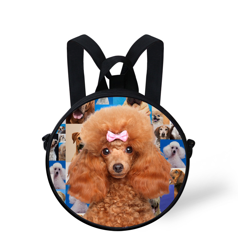 Mini Cute Pet Pug Dog Poodle PrintSmall Children School Bags Small Animal Kids Girls Kindergarten Schoolbag Mochila Infantil