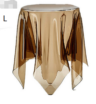 Tablecloth tea table. Transparent table. A handkerchief magic tea table aluminum alloy magic folding table blue black bronze color poker table magician s best table stage magic illusions accessory