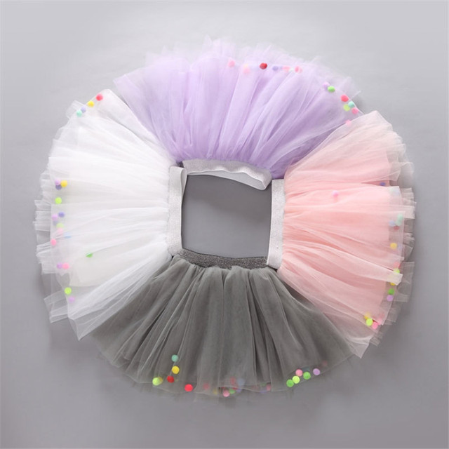 2016 Girls Mesh Summer Skirts New Mini Ball Gown For Party Wedding Cute Princess Style Skirt Children Clothing Free Shipping