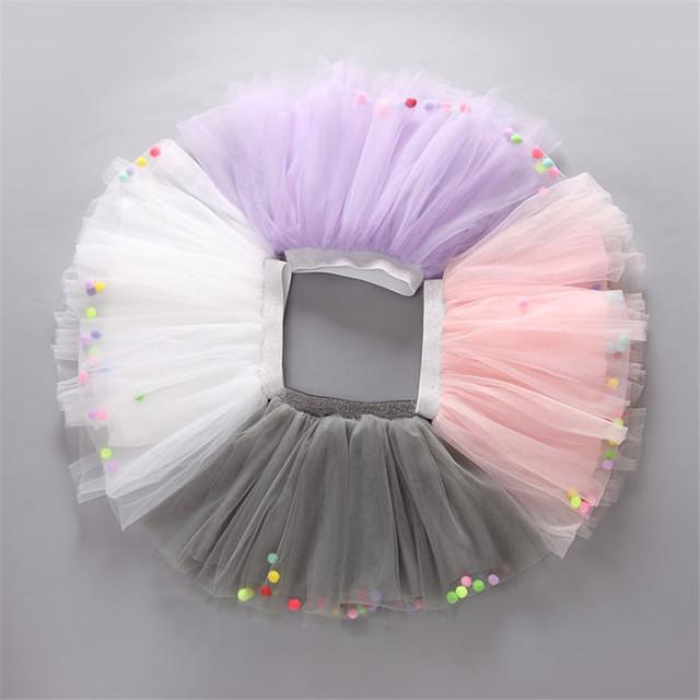 2016 Niñas Faldas de Verano de Malla Nuevo Estilo de Bola Mini Vestido De Partido Lindo de la Boda Princesa Niños de La Falda Arropa El Envío Libre