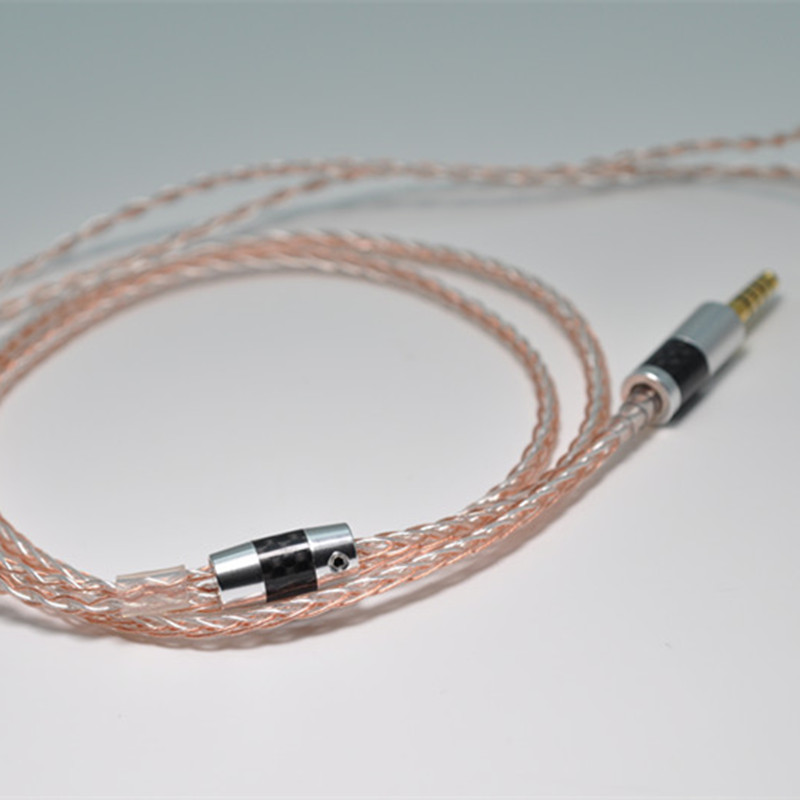 New 8 Core Cable 2.5/3.5/4.4 Pole 7N Silver Copper Mix Plated ...