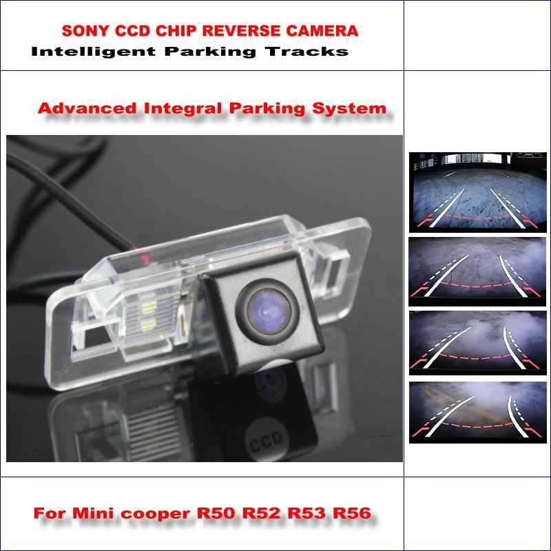 التوجيه الديناميكي الكاميرا الخلفية ل ميني كوبر r50 r52 r53 r56/580 خطوط التلفزيون hd 860 بكسل مواقف إينتليجنتيزد