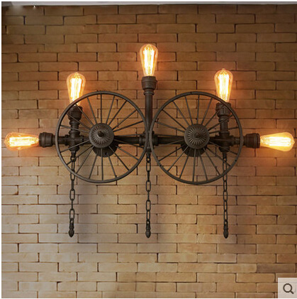 Water pipes retro American industrial wind pipe wall Bar Cafe cafe wall lamps personality clothing store Wall lights ZA SG12 american industrial style bar aisle clothing store personality probe background wall lamp telescopic led