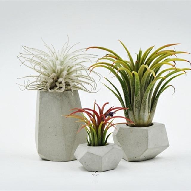 Cement flower pots planters home decor plant pot de fleur vase terrario ceramic vase pote de vidro plant stand