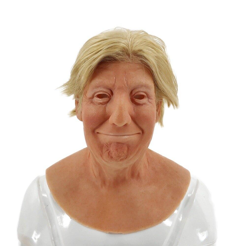 Реалистичные косплэй вечерние силиконовая маска Дональд Трамп с париком для хэллоувечерние наряжаться