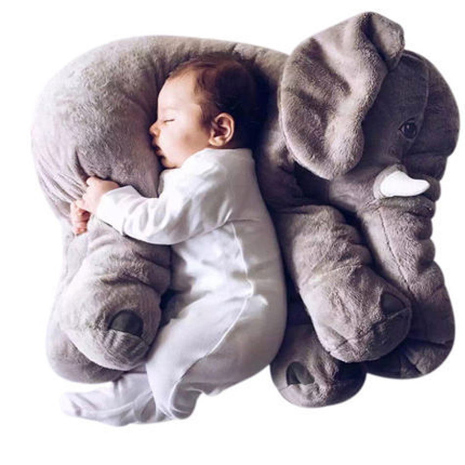 Cartoon 60cm Large Plush Elephant Toy Kids Sleeping Back Cushion stuffed Pillow Elephant Doll Baby Doll Birthday Gift for Kids 65cm plush giraffe toy stuffed animal toys doll cushion pillow kids baby friend birthday gift present home deco triver