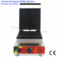Electric Waffle Maker Square Waffle Machine 4 Molds Stainless Steel Non-stick Cooking Surface 220V 110V 505