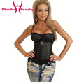 Wholesale Plus Size Black White Paddead Cup Corsets And Bustiers For Womens Vintage Spaghetti Strap Bowknot Waist Shaper S-6XL