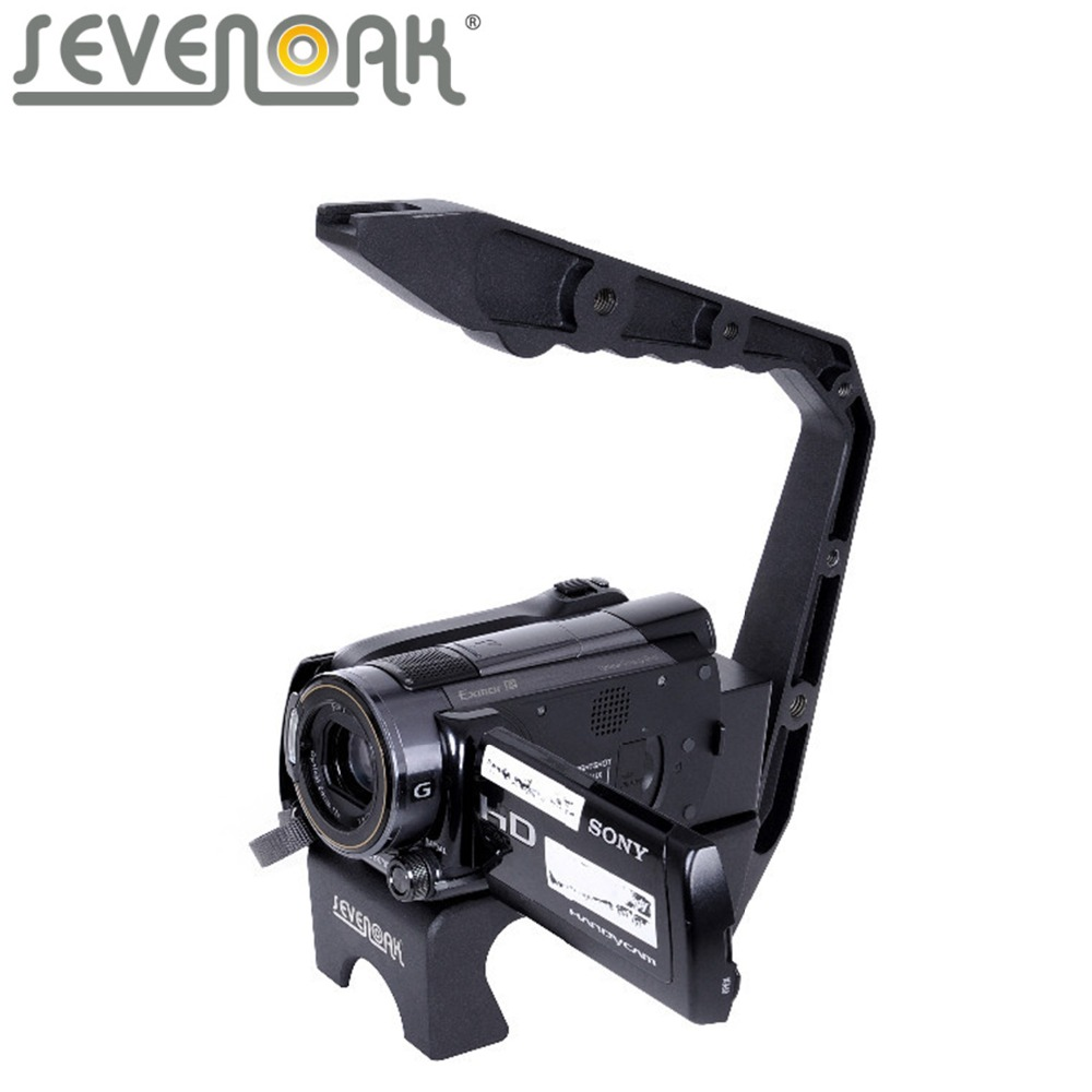 Sevenoak SK-VH03 Handle Video Action Handle Holder Bracket System for Gopro Canon Nikon Sony Camera Mini Camcorders sevenoak sk vf01 2 5x lcd view finder for canon 7d 600d nikon d7000 d5100 d90 dslrs cameras camcorders