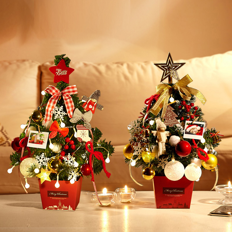 Hot Selling Newest 2019 Christmas Tree Set Tabletop Mini