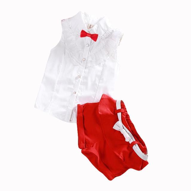Venda quente! 2017 estilo Verão Crianças conjuntos de roupas de Bebê das meninas dos meninos t camisas + shorts + cinto 3 pcs terno calças esportes roupa dos miúdos