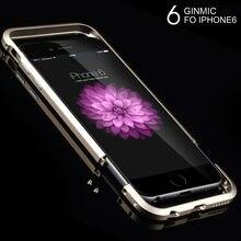 Refunney Двухступенчатая алюминиевый корпус металлический бампер для iPhone 6 6S плюс Чехол Коке capinha цвета: золотистый, серебристый черный, красный