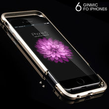 Two-stage Slim Ultra Thin Aluminum Bumper Luxury Metal Frame Case for iPhone 6 6s Plus Phone Protective Cover Coque Capinha