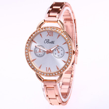 woman watch 2019 luxury brand rose gold stainless steel wrist watches for women crystal diamond dress watch laides quartz watch