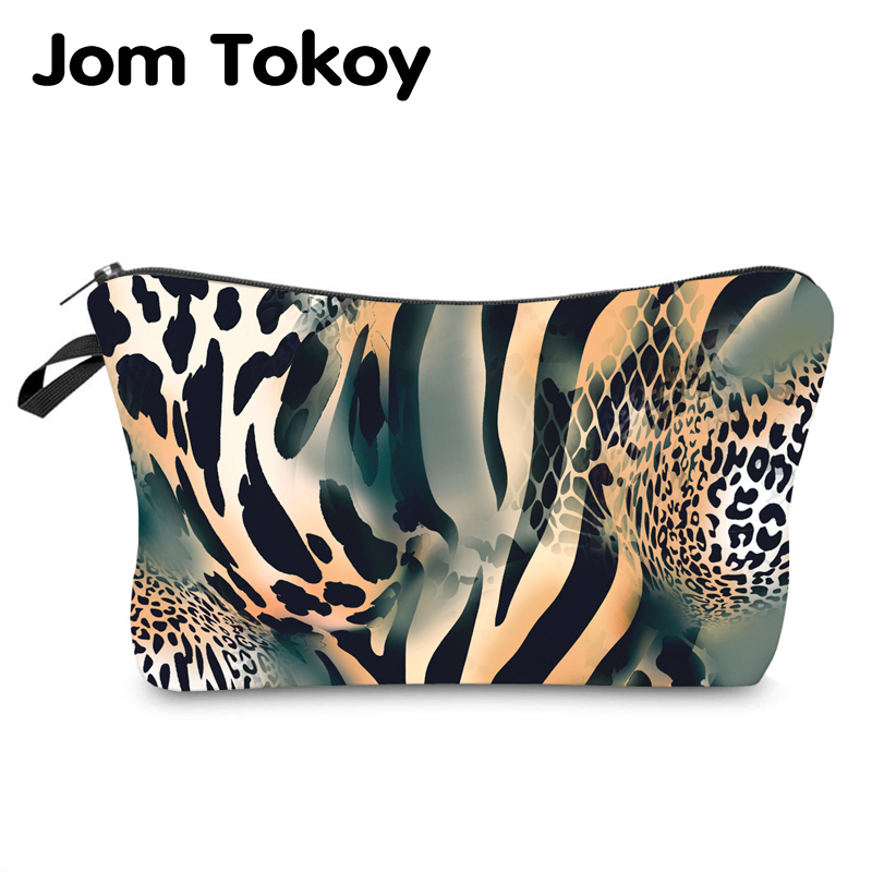 Jom Tokoy Water Resistant Makeup Bag Printing Leopard Cosmetic Bag Organizer Bag Women Multifunction Beauty Bag Hzb972