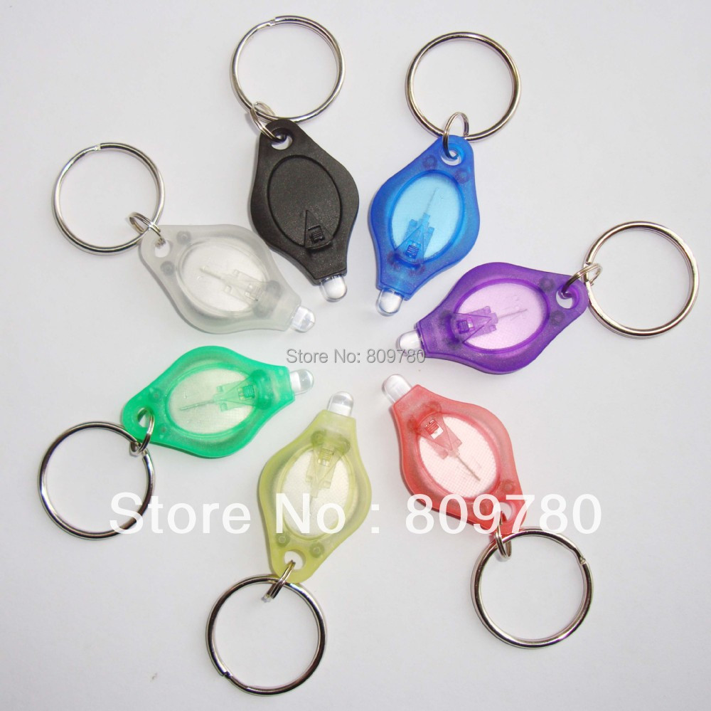 30pcs Mini white light 22000mcd  LED Flashlight Keychain Torch Gift Toys+  Free shipping